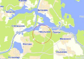 дер. Никульское на карте