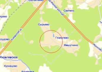 дер. Новоглаголево на карте