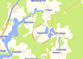 дер. Барынино на карте