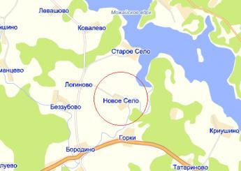 дер. Новое Село на карте