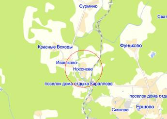 дер. Носоново на карте