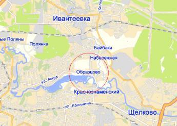 пос. Образцово на карте