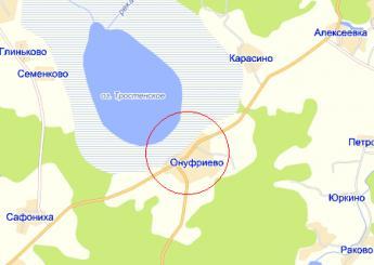 село Онуфриево на карте