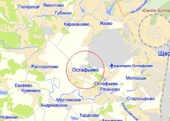 пос. Остафьево на карте