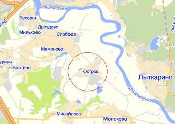 село Остров на карте
