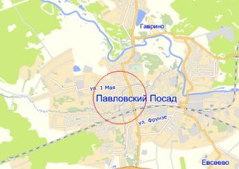 г. Павловский Посад на карте
