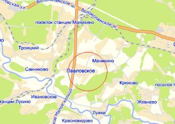 дер. Павловское на карте
