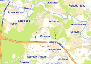 дер. Падиково на карте