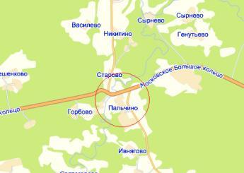дер. Пальчино на карте
