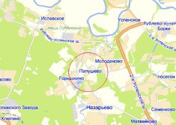 дер. Папушево на карте