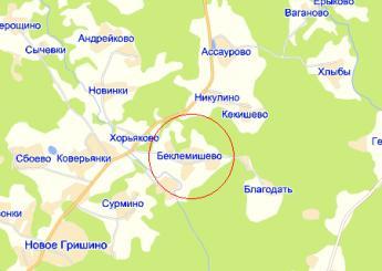 дер. Беклемишево на карте