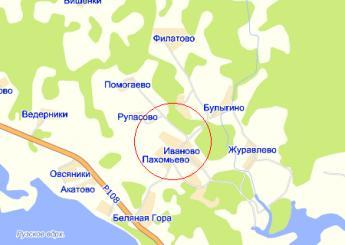 дер. Пахомьево на карте