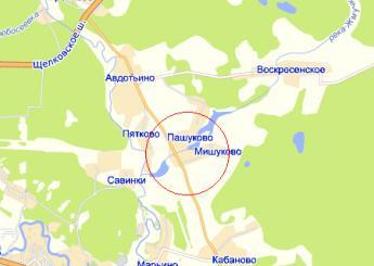 дер. Пашуково на карте