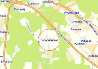 дер. Первомайское на карте