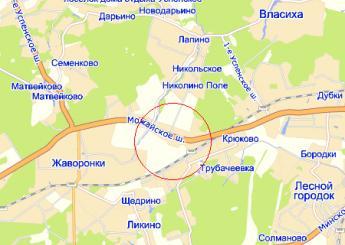 село Перхушково на карте