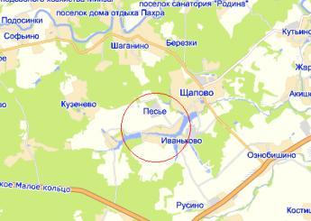 дер. Песье на карте