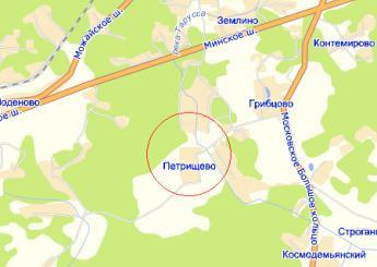 дер. Петрищево на карте