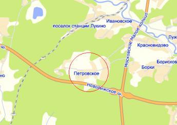 дер. Петровское на карте
