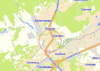 село Петровское на карте