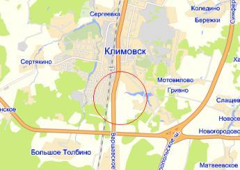 пос. Подольской машинно-испытательной станции на карте
