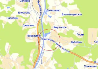 пос. Подосинки на карте