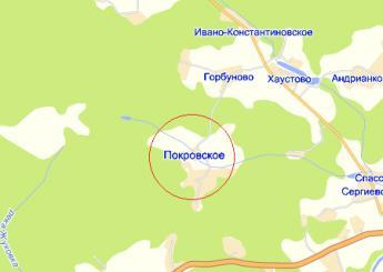 дер. Покровское на карте