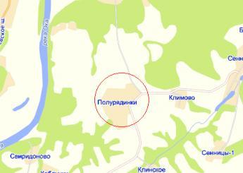 село Полурядинки на карте