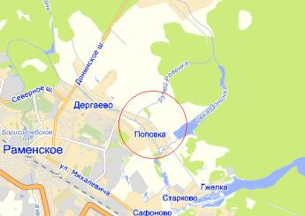 дер. Поповка на карте