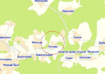 дер. Попово на карте