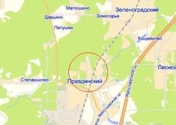 пос. Правдинский на карте