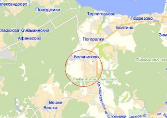 дер. Беляниново на карте