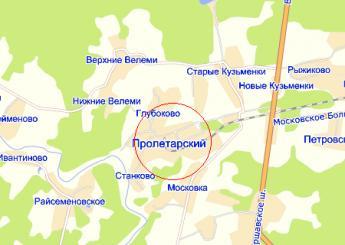 пос. Пролетарский на карте