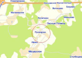 дер. Прохорово на карте