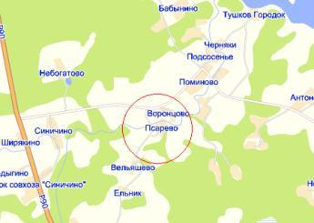 дер. Псарево на карте