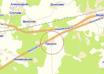 дер. Пушкино на карте