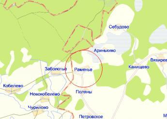 дер. Раменье на карте