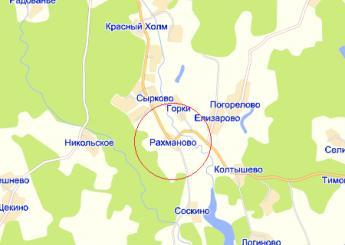 дер. Рахманово на карте