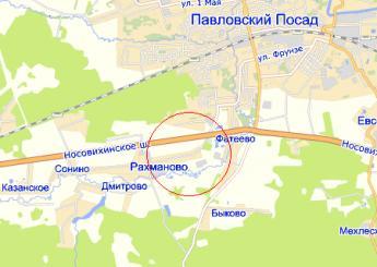 село Рахманово на карте
