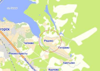 дер. Редино на карте