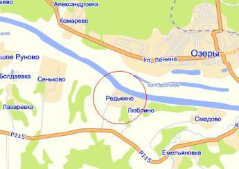 село Редькино на карте