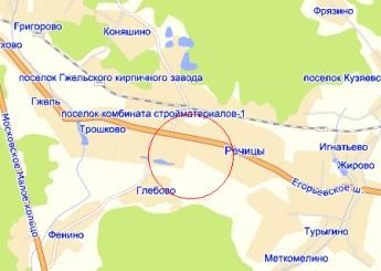 село Речицы на карте