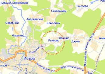 дер. Рычково на карте