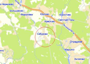 дер. Сабурово на карте
