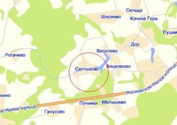 село Салтыково на карте