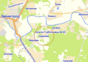дер. Сальково на карте