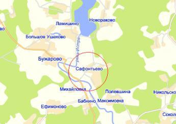 дер. Сафонтьево на карте