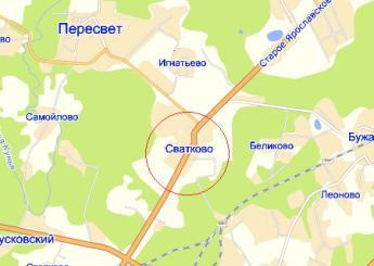 село Сватково на карте