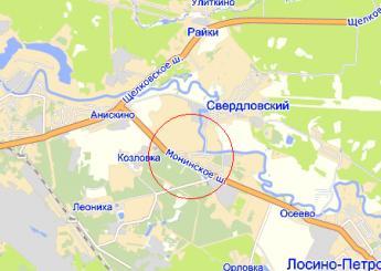 пос. Свердловский на карте