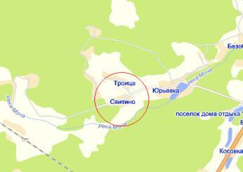 село Свитино на карте