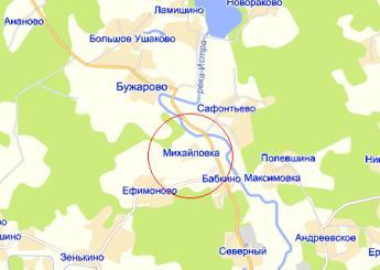 пос. Северный на карте